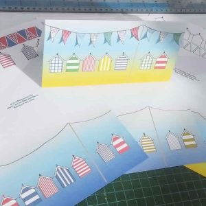 Beach huts and bunting