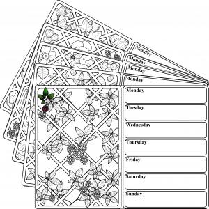 Garden Trellis Weekly Planner