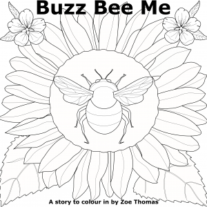 Buzz Bee Me – a short story to colour in