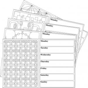 Geometrics weekly planner